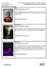 RETROUVEZ NOTRE PROGRAMME FILM CLUB
