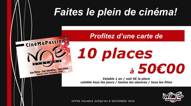 OFFRE : 10 places à 50€ valable 1 an