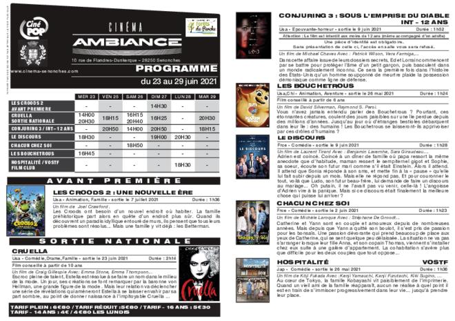 Programme du 23 au 29 juin