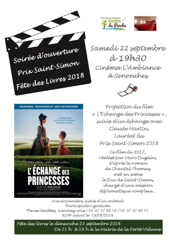 SOIRÉE D'OUVERTURE DE LA JOURNÉE LITTÉRAIRE - PRIX SAINT SIMON - FÊTE DES LIVRES 2018