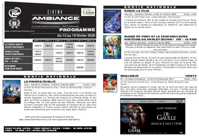 Programme du 13 au 19 février