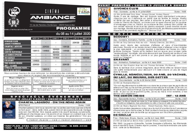 Programme du 08 au 14 juillet