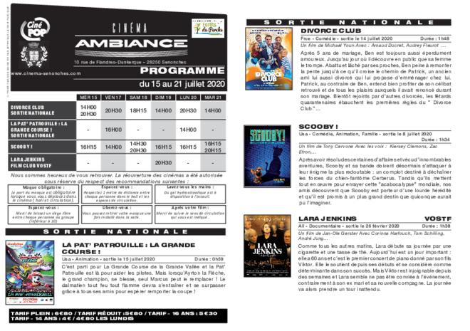 Programme du 17 au 23 juillet