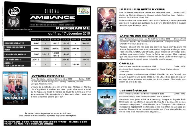Programme du 11 au 17 décembre